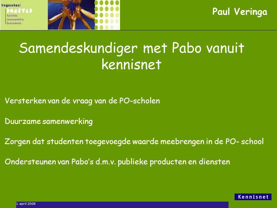 Samendeskundiger met Pabo vanuit kennisnet