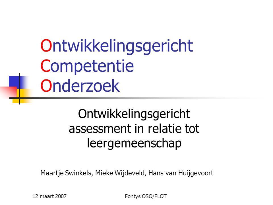 Ontwikkelingsgericht Competentie Onderzoek