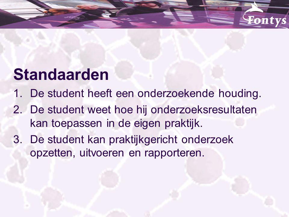 Standaarden De student heeft een onderzoekende houding.