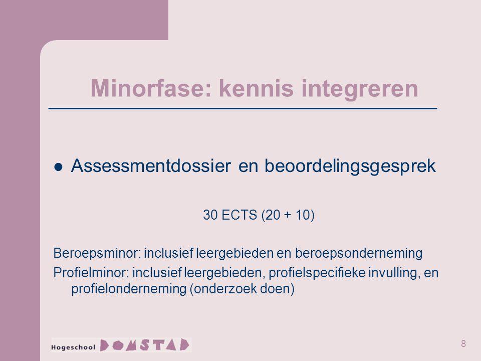 Minorfase: kennis integreren