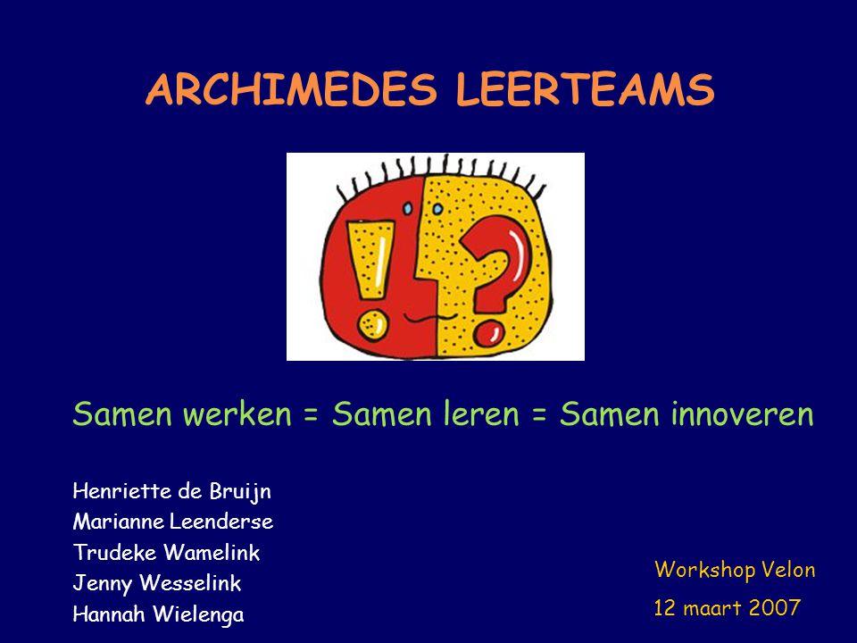 Samen werken = Samen leren = Samen innoveren