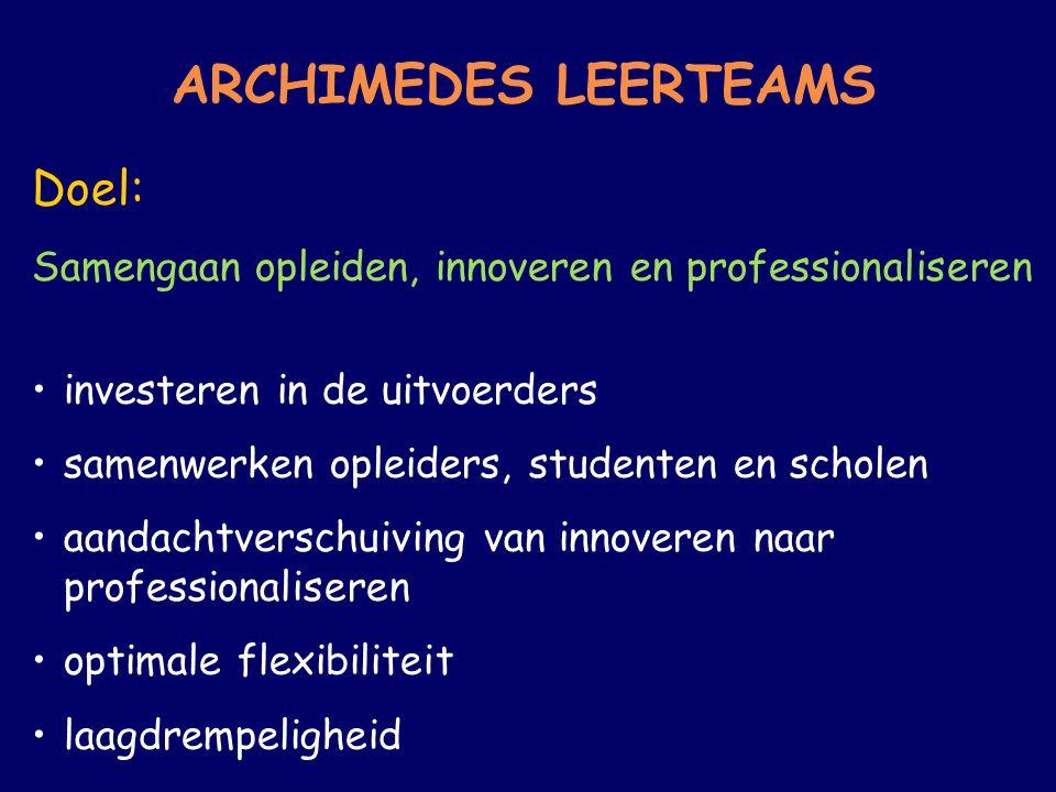 ARCHIMEDES LEERTEAMS Doel: