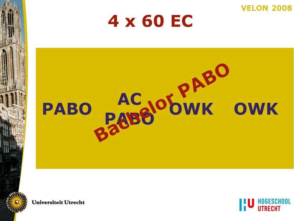 4 x 60 EC PABO OWK AC Bachelor PABO