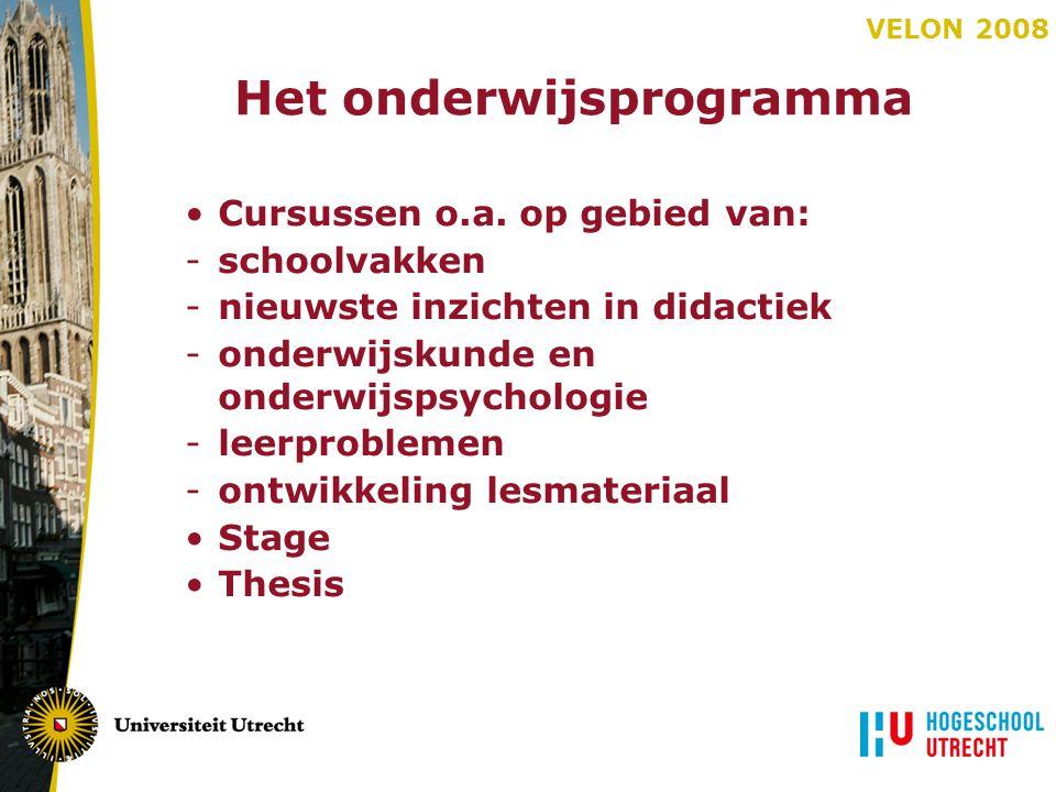 Het onderwijsprogramma