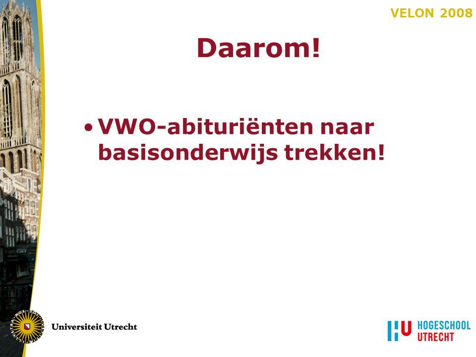 Daarom! VWO-abituriënten naar basisonderwijs trekken!