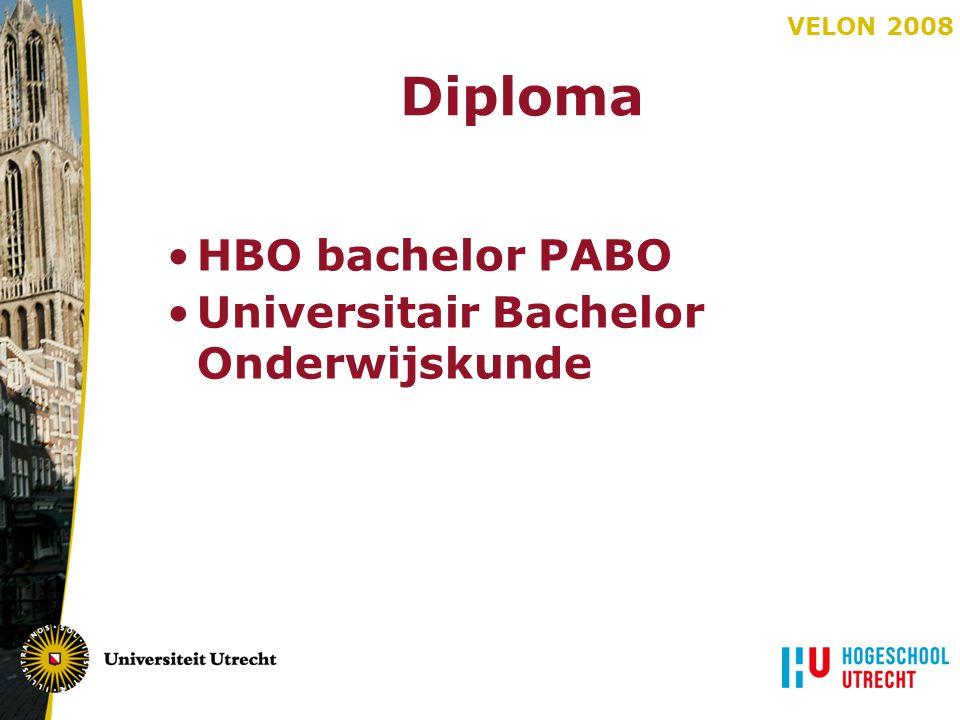 Diploma HBO bachelor PABO Universitair Bachelor Onderwijskunde