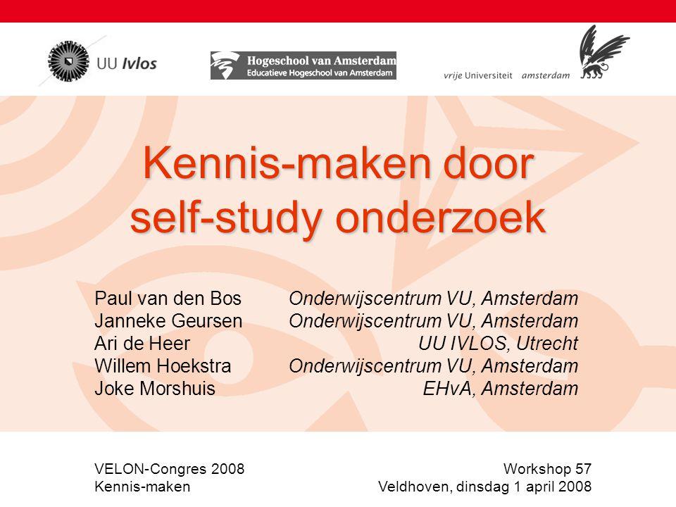 Kennis-maken door self-study onderzoek