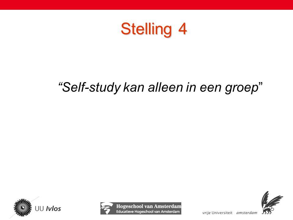 Self-study kan alleen in een groep