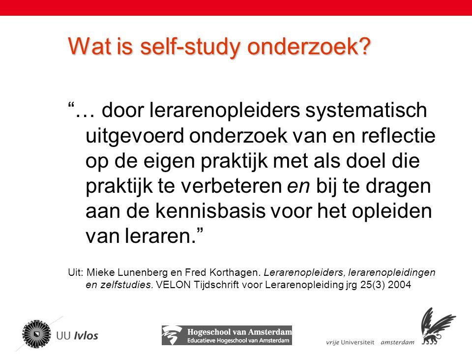 Wat is self-study onderzoek