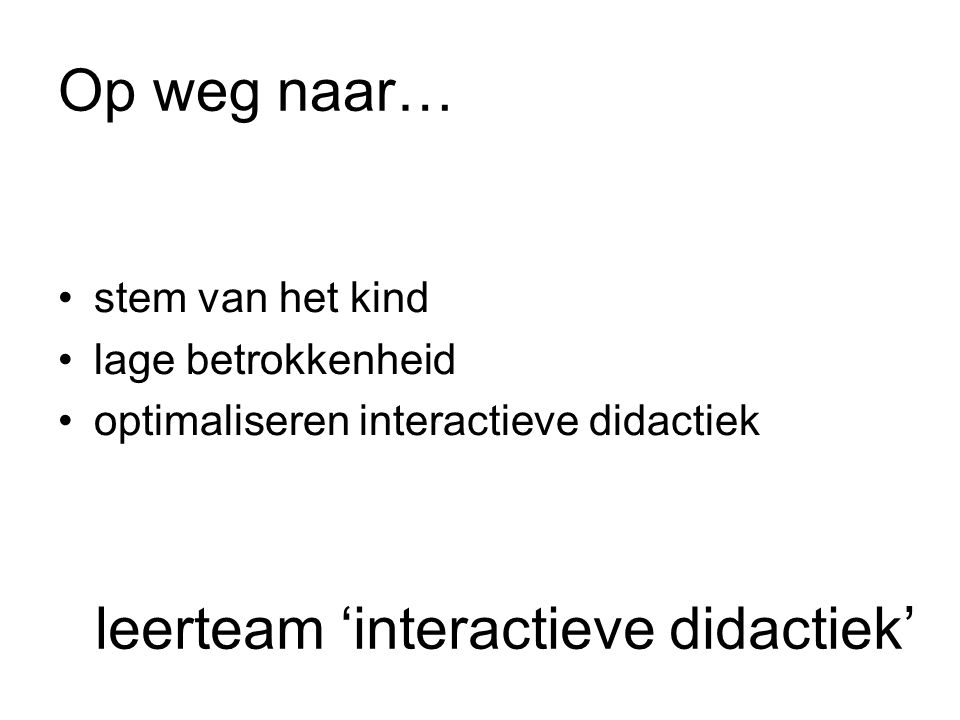 leerteam 'interactieve didactiek'