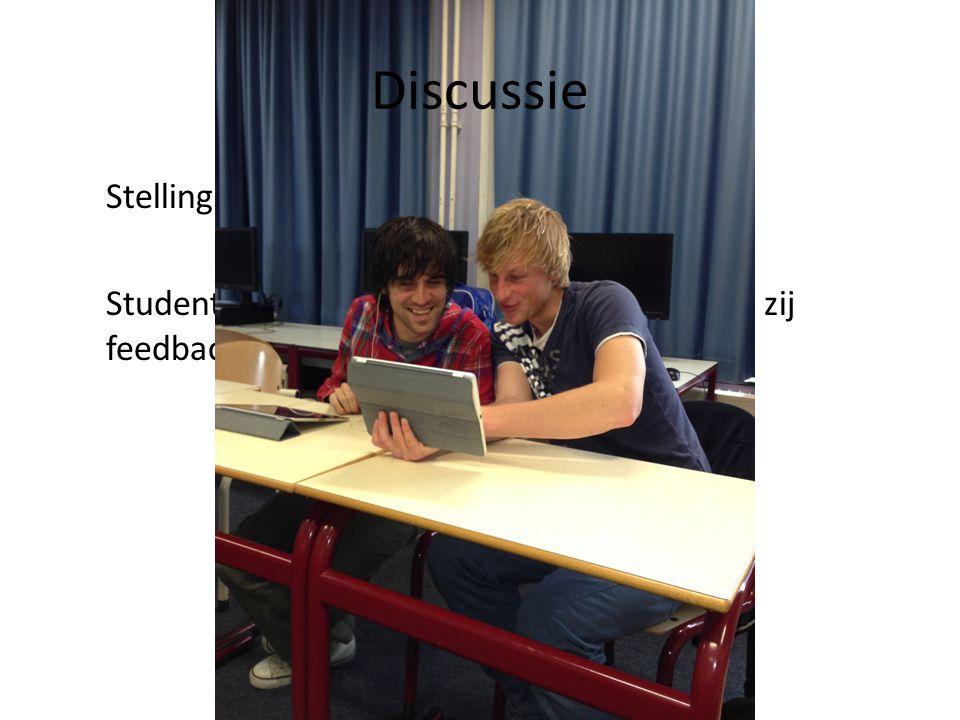 Discussie Stelling: Studenten ontwikkelen zich beter wanneer zij feedback van elkaar krijgen
