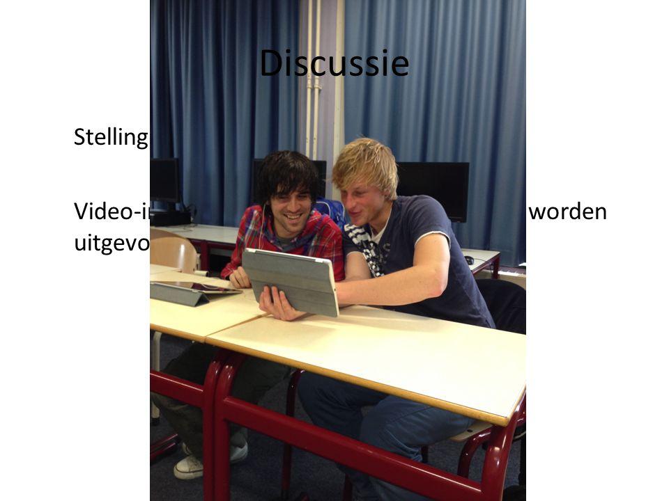 Discussie Stelling: Video-interactie hoort volgens de regels te worden uitgevoerd.