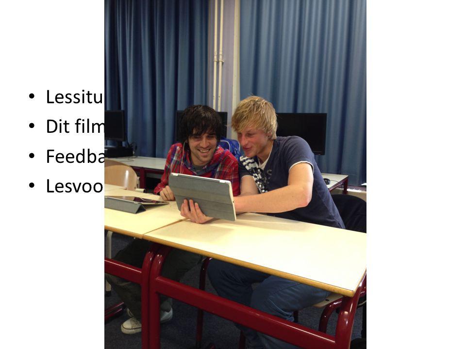 Microteaching Lessituaties oefenen Dit filmen