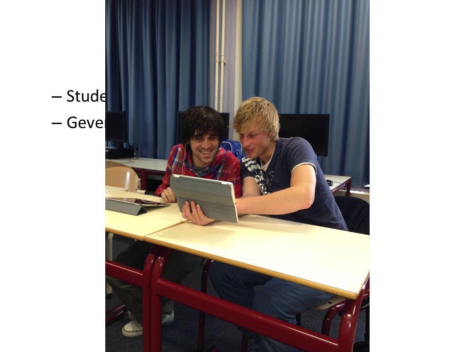 Video-interactie Studenten bekijken elkaars filmbeelden