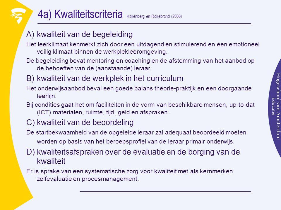4a) Kwaliteitscriteria Kallenberg en Rokebrand (2006)