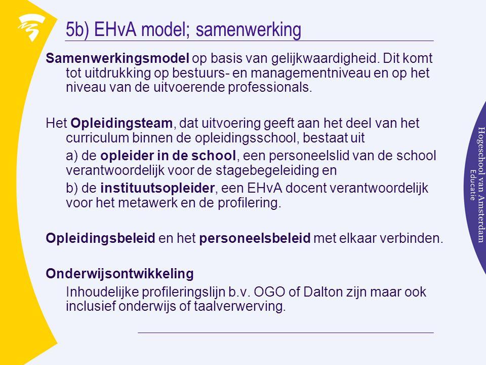 5b) EHvA model; samenwerking