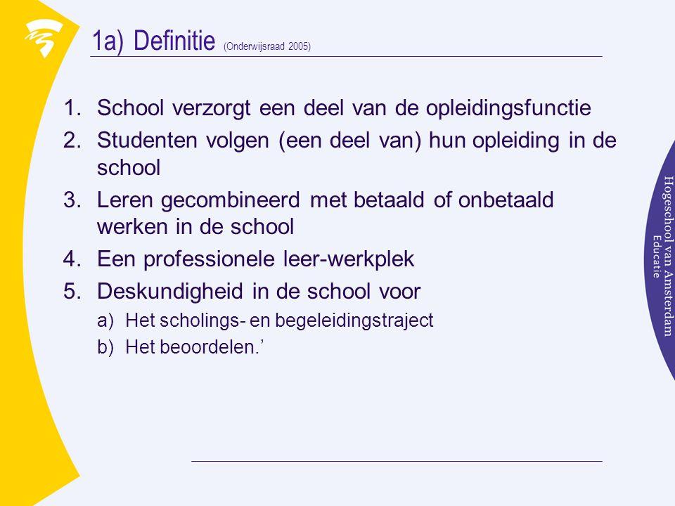 1a) Definitie (Onderwijsraad 2005)