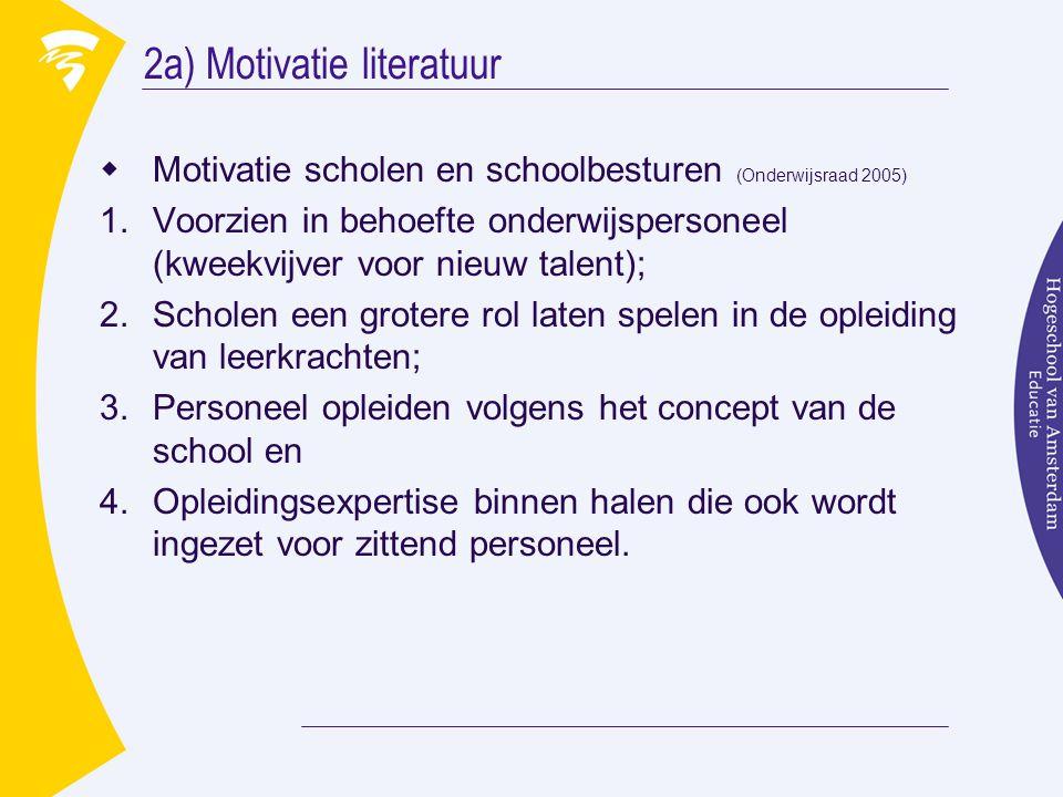 2a) Motivatie literatuur