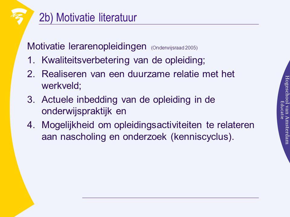 2b) Motivatie literatuur