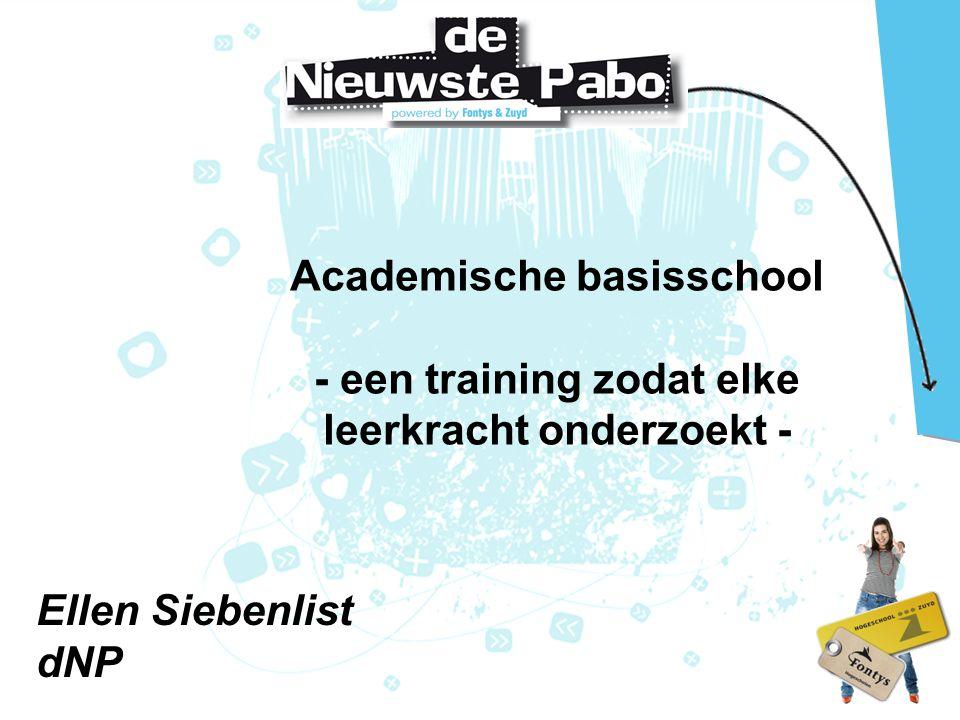 Academische basisschool - een training zodat elke leerkracht onderzoekt -