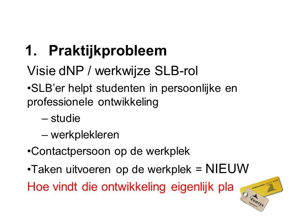 Praktijkprobleem Visie dNP / werkwijze SLB-rol