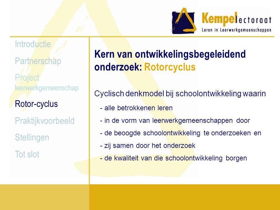 Kern van ontwikkelingsbegeleidend onderzoek: Rotorcyclus