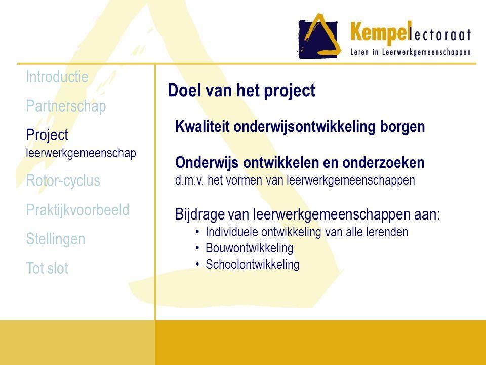 Doel van het project Introductie Partnerschap