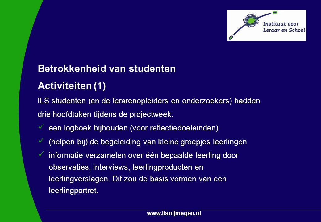 Betrokkenheid van studenten Activiteiten (1)