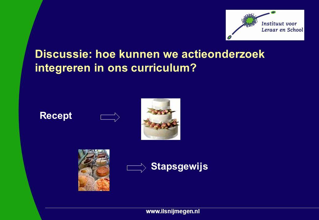 Discussie: hoe kunnen we actieonderzoek integreren in ons curriculum