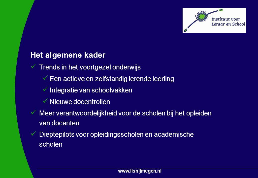 Het algemene kader Trends in het voortgezet onderwijs