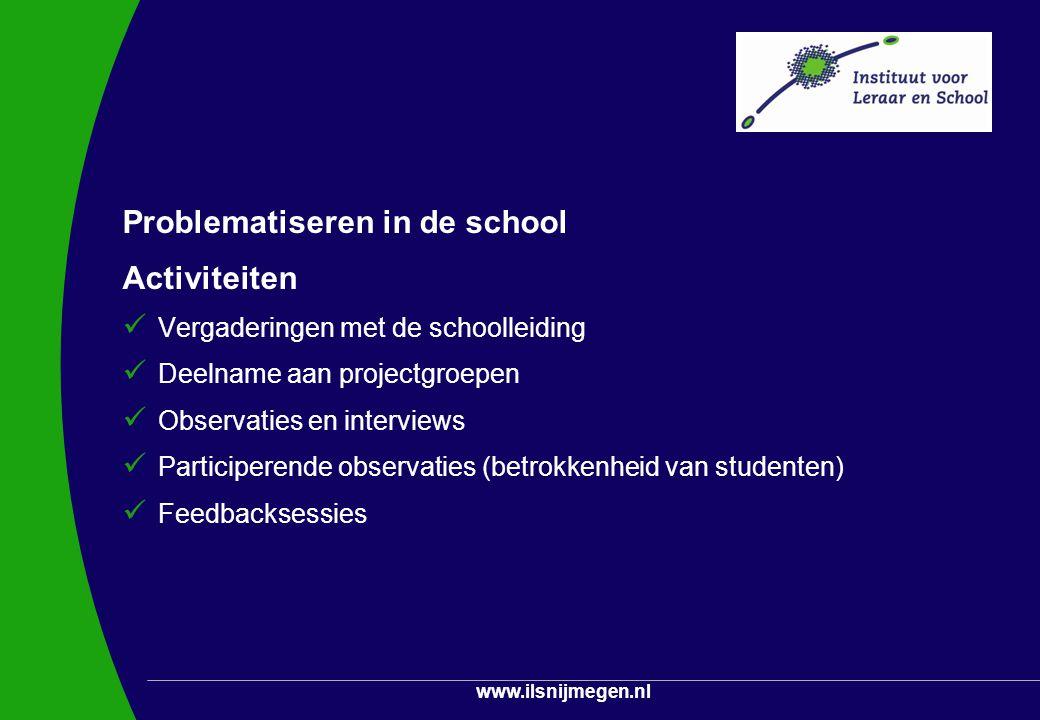 Problematiseren in de school Activiteiten