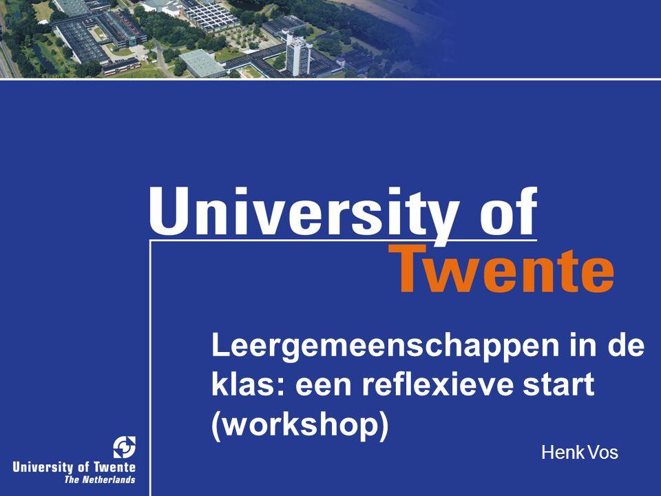 Leergemeenschappen in de klas: een reflexieve start (workshop)