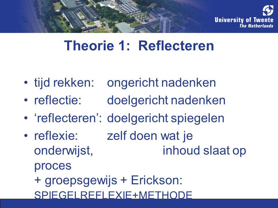 Theorie 1: Reflecteren tijd rekken: ongericht nadenken