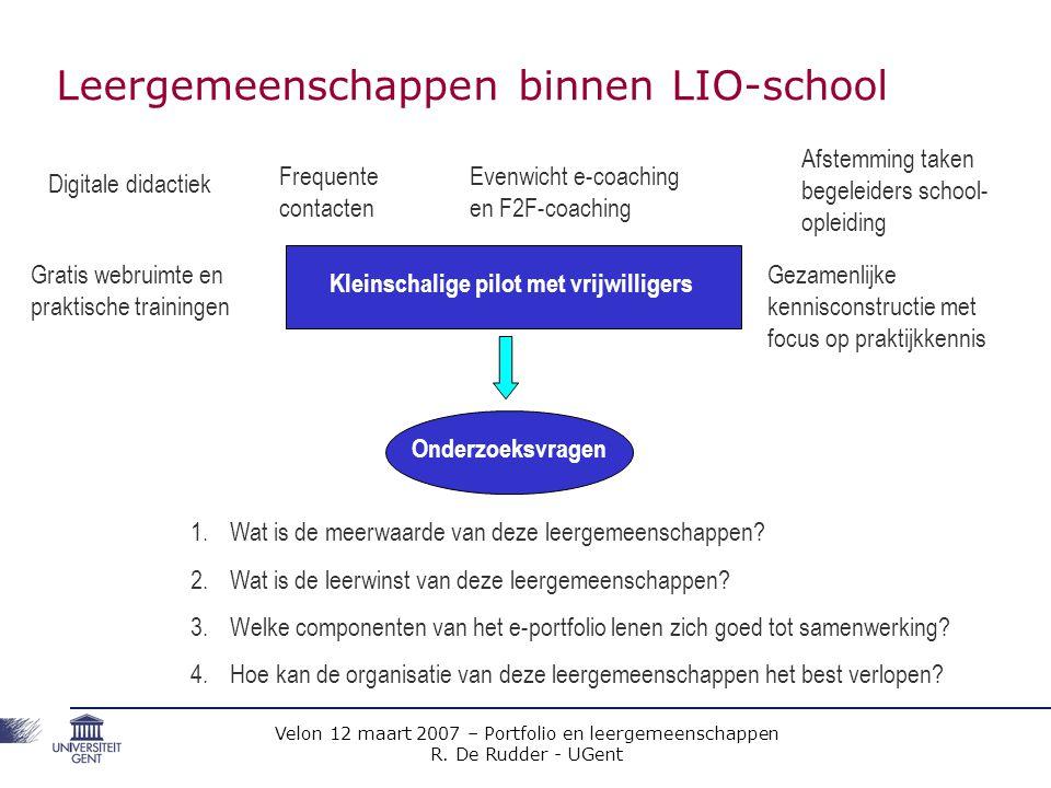 Leergemeenschappen binnen LIO-school