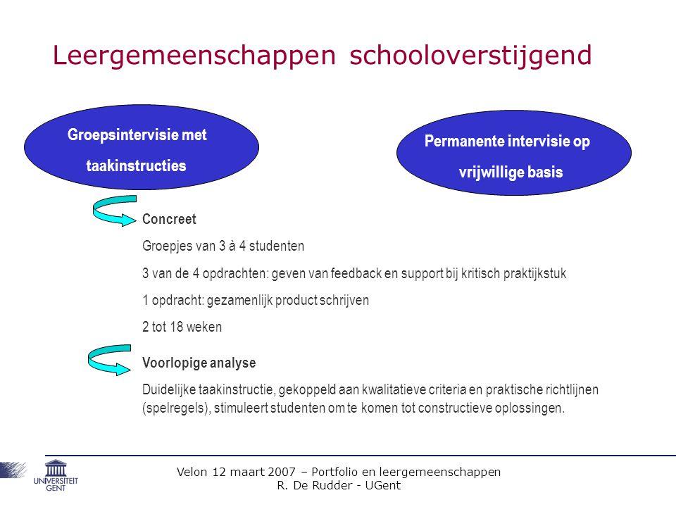 Leergemeenschappen schooloverstijgend