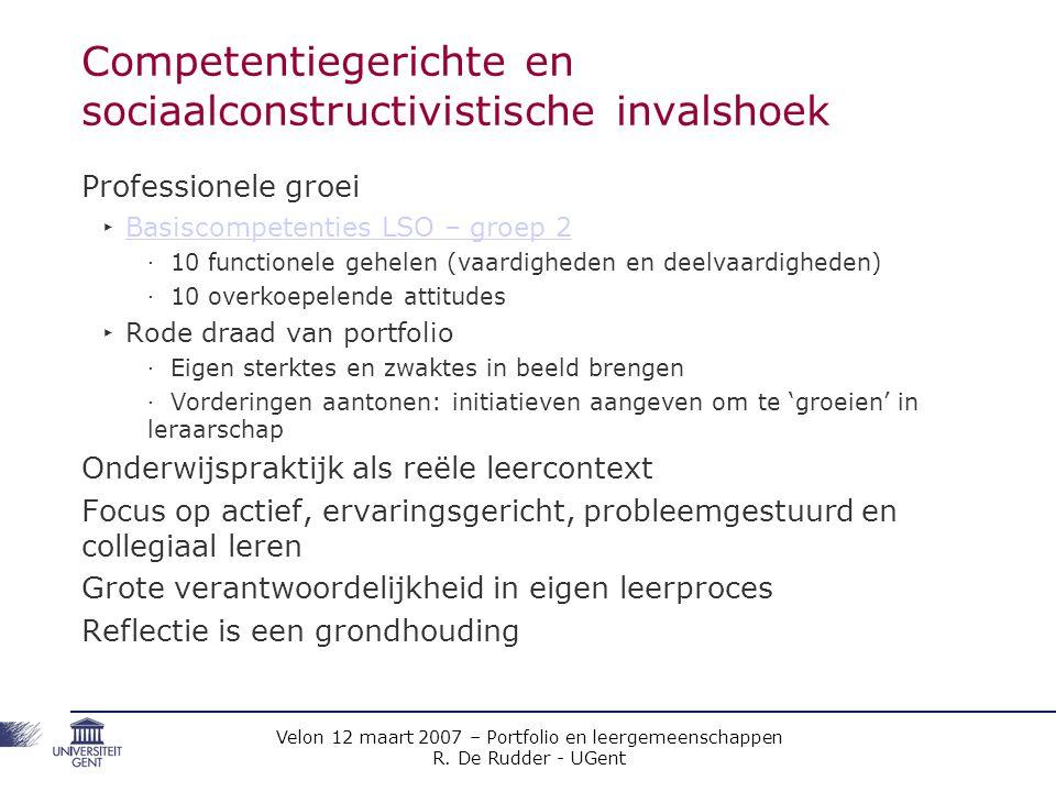 Competentiegerichte en sociaalconstructivistische invalshoek