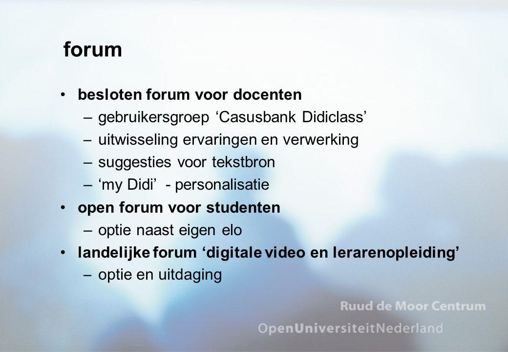 forum besloten forum voor docenten