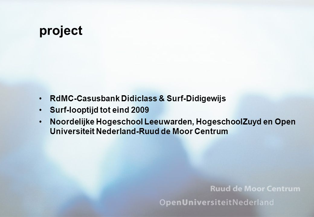 project RdMC-Casusbank Didiclass & Surf-Didigewijs