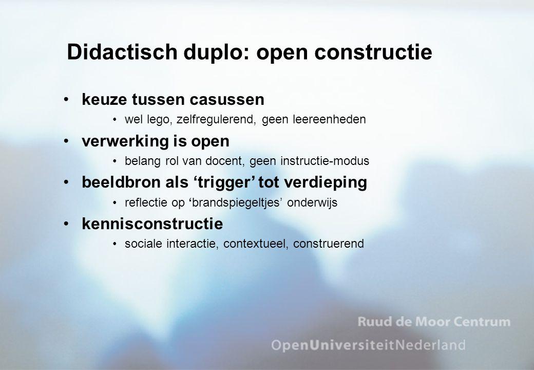 Didactisch duplo: open constructie