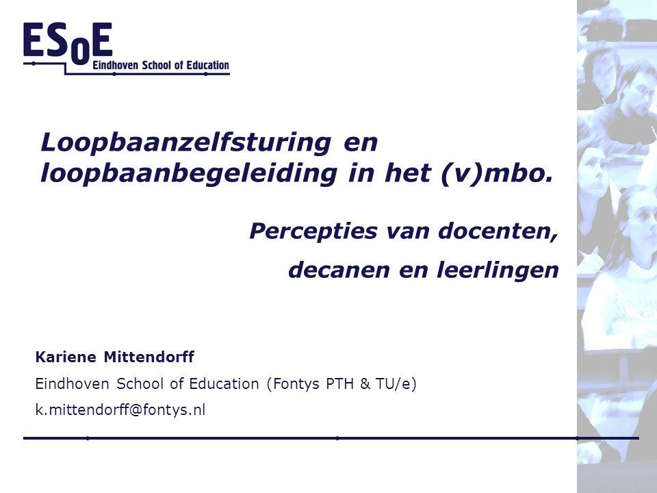 Loopbaanzelfsturing en loopbaanbegeleiding in het (v)mbo.