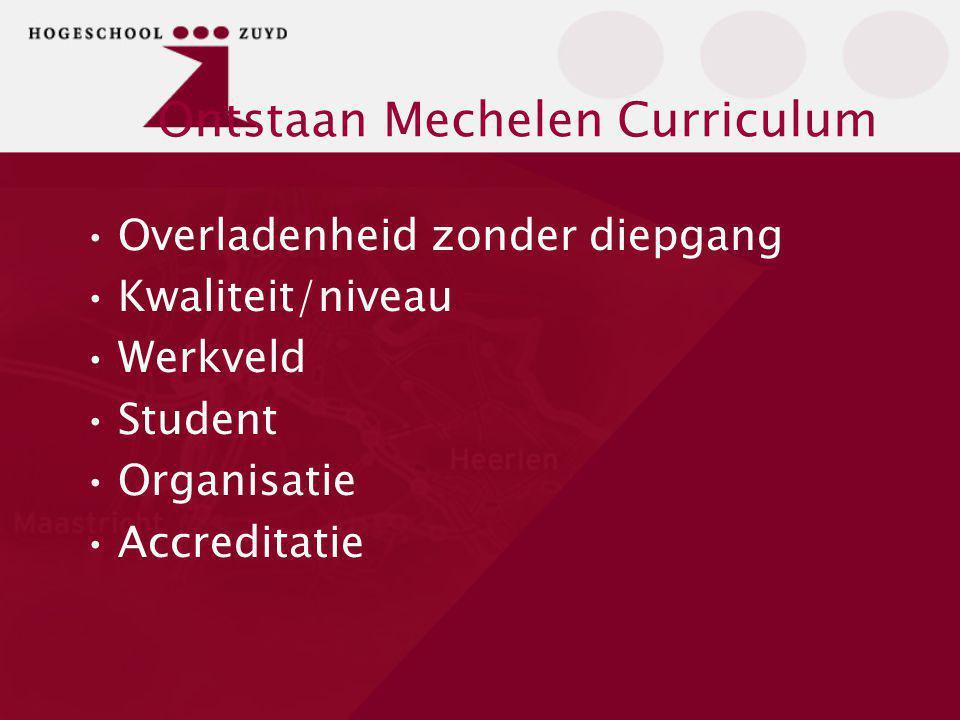 Ontstaan Mechelen Curriculum