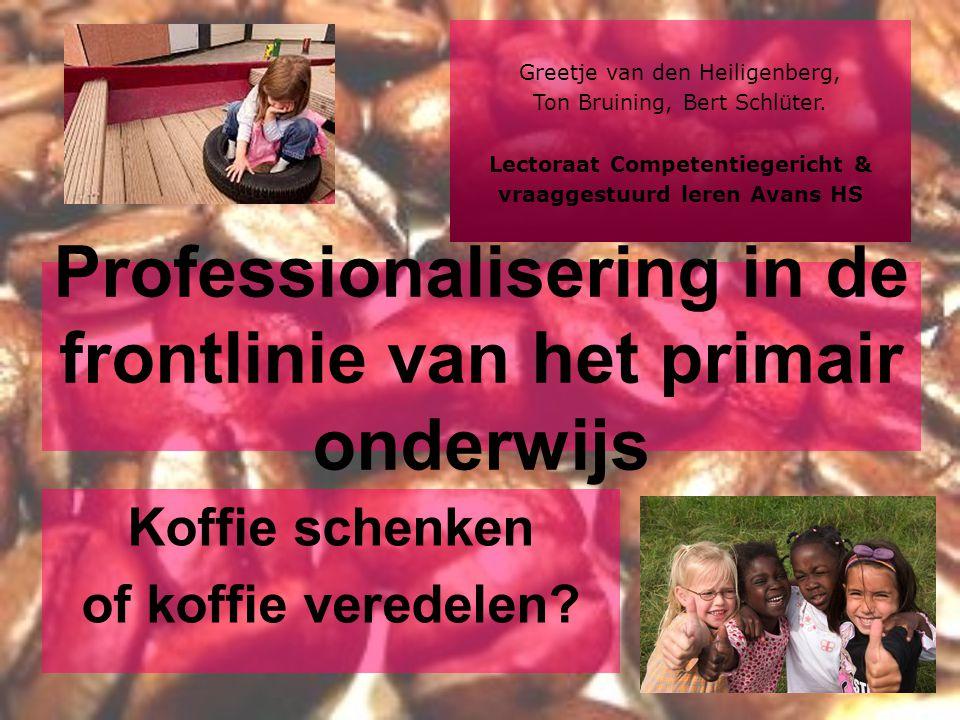 Professionalisering in de frontlinie van het primair onderwijs