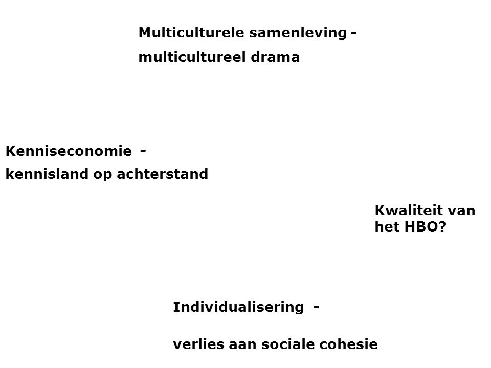 Multiculturele samenleving -
