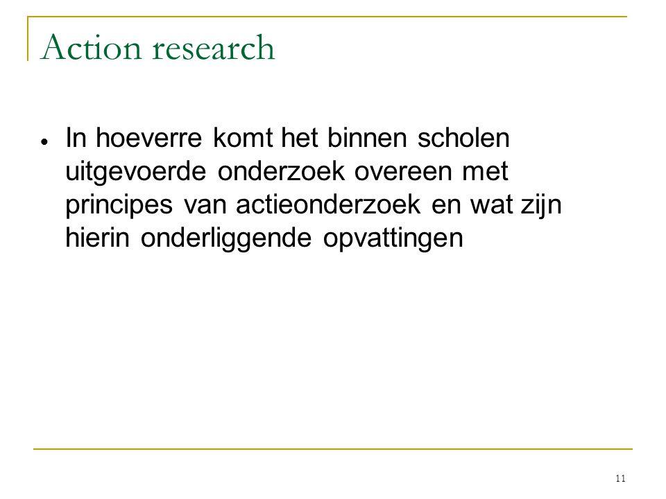 Congruentie / VELON 2007 6-11-2006. Action research.