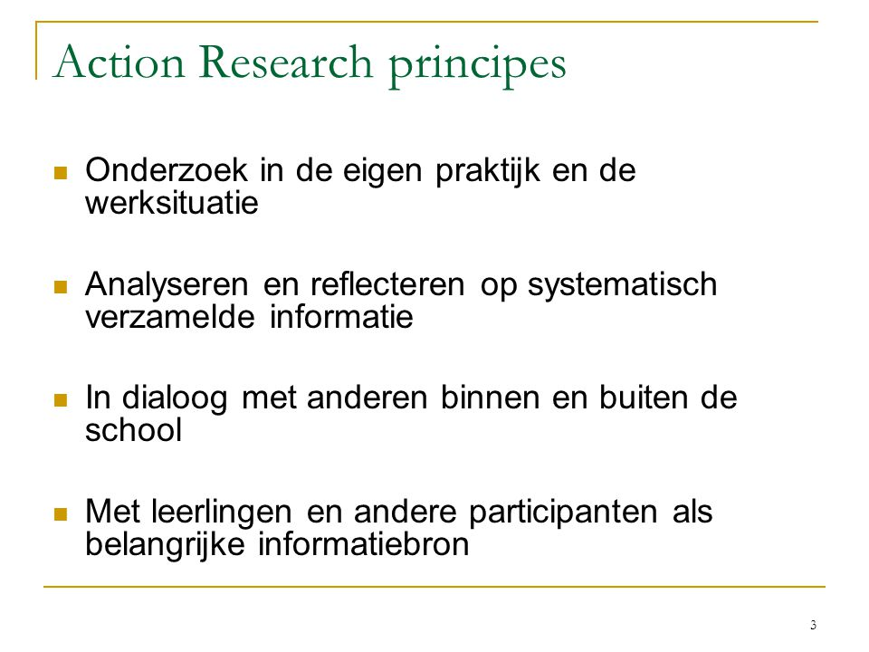 Action Research principes