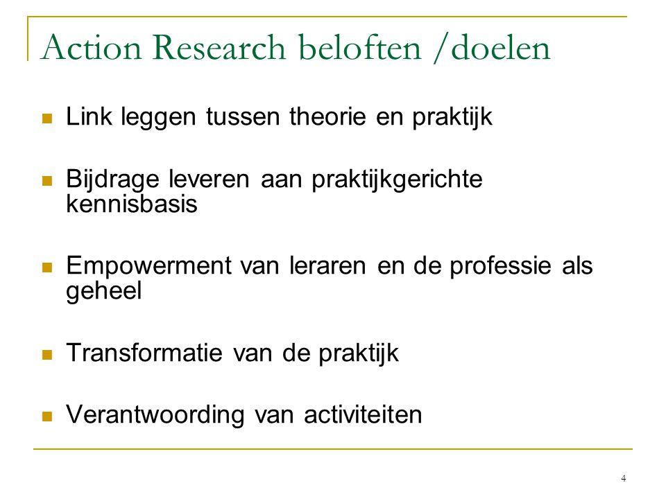 Action Research beloften /doelen