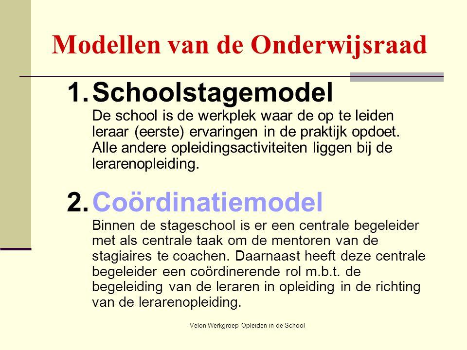 Modellen van de Onderwijsraad