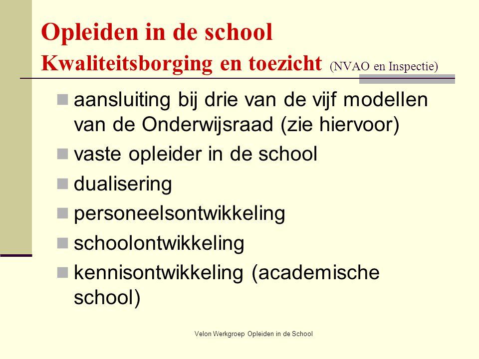 Handout Workshop Opleiden in de school, Velon congres 2008