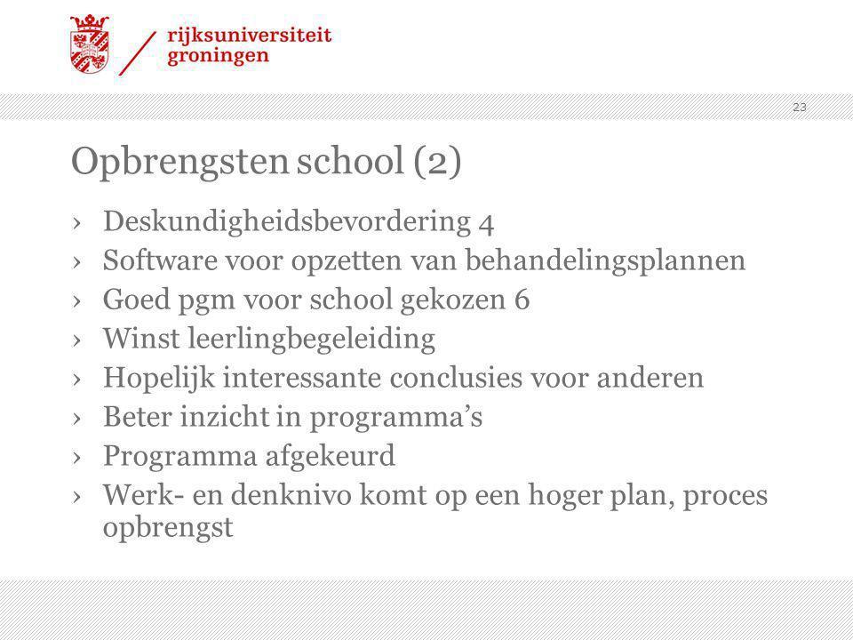 Opbrengsten school (2) Deskundigheidsbevordering 4