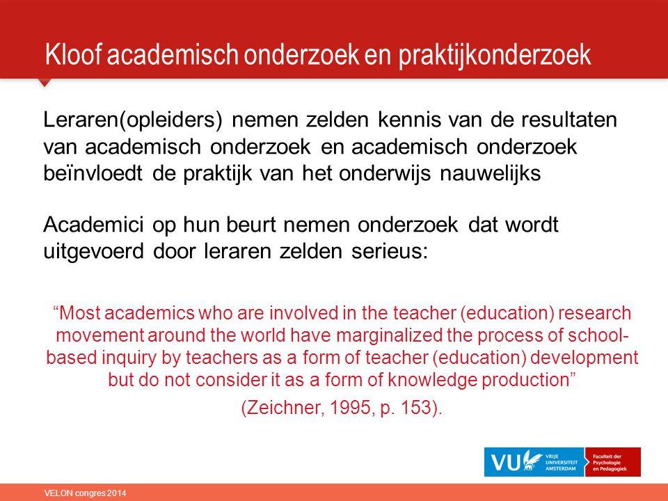 Kloof academisch onderzoek en praktijkonderzoek